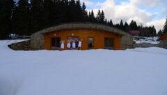 Die neue Sauna vor unserem Hotel
