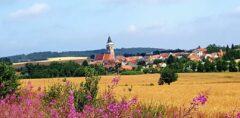 Nach Einfahrt entlang der Thaya: Blick auf Slavonice