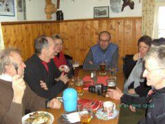 Pause in der Chamer Hütte