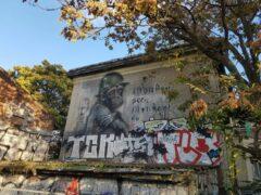 in Berlin gibt es Graffiti auf Schritt und Tritt