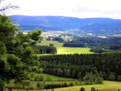 Blick von Villa Breitenberg auf den Böhmerwald