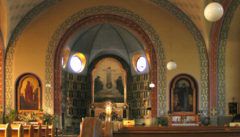 """Die Kirche der """"Unbefleckten Empfängis der Jungfrau Maria"""" des Otto-Wagner-Schülers Franz Holik ist ein architektonisches Jugendstil-Juwel ersten Ranges"""
