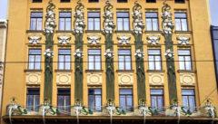 Floraler Jugendstil als Kontrast zum funktionalistischen Brünn