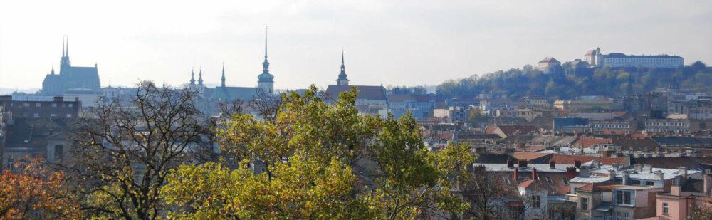 Brünner Panorama: Dom, Jakobskirche und die Festung Spielberg