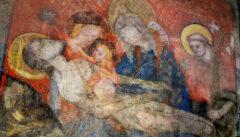 Fesken aus dem 14. Jh. im Dominikanerkloster von Budweis