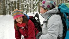 Schneeschuhwandern, eine Anstrengung, die Spaß macht