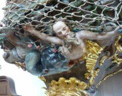 Fischerkanzel Detail: wie der Walfisch den Propheten Jona ausspukt