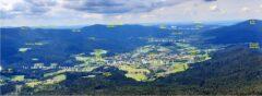 Lamer Winkel und Tal des Weissen Regen - beschriftet mit wichtigen Wegpunkten unserer Reise