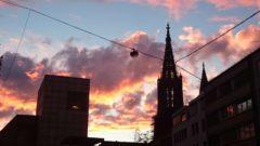 Ulmer Münster im Sonnenuntergang