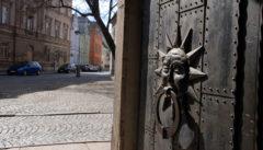 Die alte Kirchentür der St.Wenzelkirche in Opava