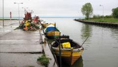 Der kleine Fischerhafen von Krynica Morska.