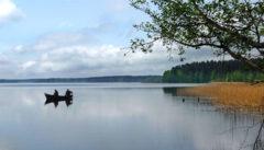 Auf dem Weg zu Ernst Wiecherts Forsthaus wandern wir um den Mokrsee