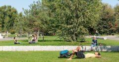 Wobei: 15 Hektar Mauerpark, da ist Platz für Musik und Entspannung