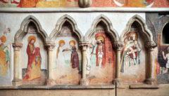Ein kunsthistorischer Schatz: Die spätgotischen Fresken in Zvíkov