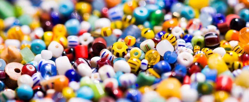 Kleine Glasperlen: Grundstock des Galonzer Reichtums