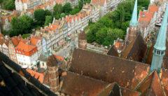 Danzig: Blick von der Marienkirche auf die Altstadt
