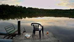 Ruhetag im Schloss. Literatur und Bier am See sind eine Möglichkeit,