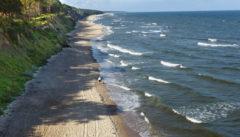 Die Ewigkeit des Meeres: Blick auf den Strand von Hoff.