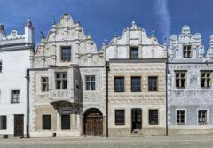 Sgraffito-Fassaden in Slavonice