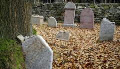 Der kleine südböhmische Friedhof, auf dem Kafkas Großeltern liegen