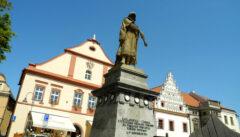 Tabor, die Stadt der Hussiten, gedenkt immer noch stolz des Heerführers Jan Žižka