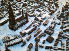Ulmer Stadtmodell im Schnee