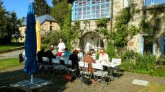 Villa Breitenberg Frühstück im Freien