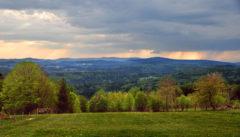 Abend in Waldhäuser Blick vom Draxlerhof