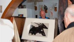 Im Atelier des Tierbildhauers Heinz Theuerjahr