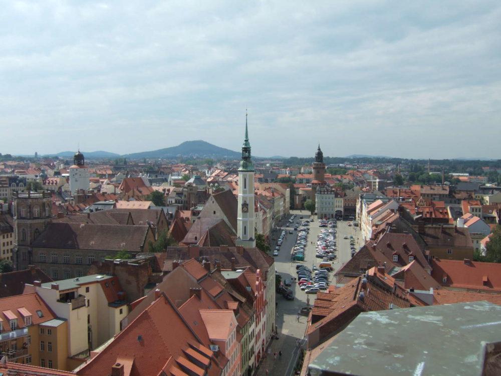 Blick auf Görlitz und den Löbauer Berg