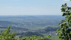 Ausblick vom Haidstein auf Runding und Cham
