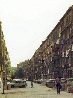 Mainzer Straße vor der Räumung Nov. 1990