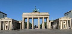 Hier ausnahmsweise touristenfrei - Brandenburger Tor